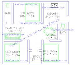 500 sq ft 3 bhk small floor plan