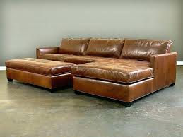 distressed leather sofa