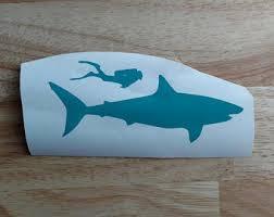 Shark Car Decal Etsy