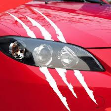 40cmx12cm Funny Car Sticker Reflective Monster Scratch Stripe Claw Mar T7lvsurplus Store