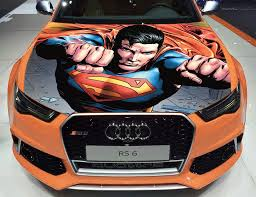 Vinyl Car Hood Wrap Full Color Graphics Decal Superman Man Of Steel Sticker Ebay