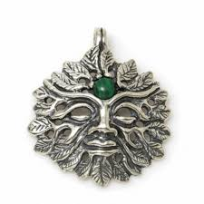 green man pendant 925 sterling silver