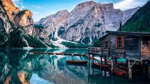 pragser wildsee lake italy europe