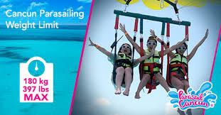 cancun parasailing weight limit