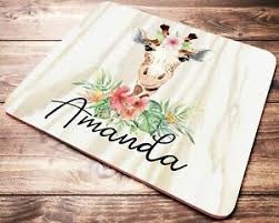 mouse pad with personalized name