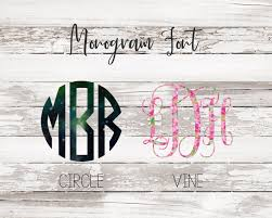 Monogram Decal Vinyl Decal Car Decal Laptop Decal Tumbler Decal Personalized Decal Bridesmaid Gift Gift For Women Lilly Pullitzer Decal