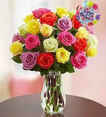 happy birthday roses 12 24 stems