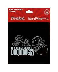 Disney Parks Haunted Mansion My Other Car Is A Doombuggy Vinyl Car Decal New Lanexvcdfsfrerwwx