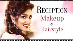 indian bridal reception makeup with
