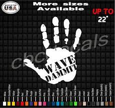Hand Wave Dammit Vinyl Decal Sticker Window Decals Etsy