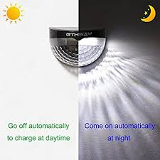 Othway Solar Fence Post Lights Wall Mount Decorative Deck Lighting Gy L6 4black Buy Online At Best Price In Uae Amazon Ae