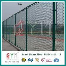 China Metal Steel Coated Galvanized Powder Coated Chain Link Fence China Chain Link Fence Diamond Mesh Fence