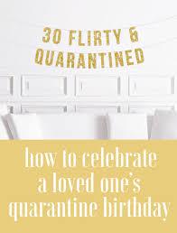 to celebrate a birthday in quarantine