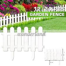12 24pcs Plastic Fence Courtyard Garden Edging Border Panel Flower Yard Decor Shopee Philippines