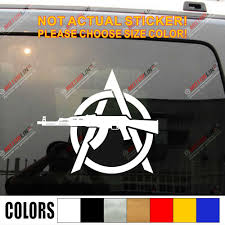 Anarchy Ak47 Rifle Decal Sticker Car Vinyl Anarchism 2nd Amendment Die Cut No Background Pick Size Color Car Stickers Aliexpress
