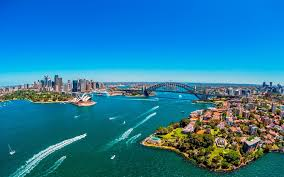 aerial view of sydney harbour hd