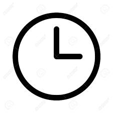 Reloj Y Línea De Relojes Icono Del Arte De Aplicaciones Y Sitios ...