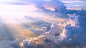 white sky clouds sky blue sun hd