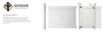 Amazon Com Outdoor Essentials Pro Series Hudson White Vinyl Privacy Fence Panel Kit 6 Ft X 6 Ft Garden Outdoor