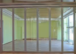 frameless movable office partition wall