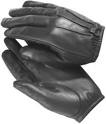 fire resistant black leather gloves