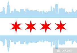 Chicago Flag Wall Mural Pixers We Live To Change