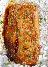 Honey-Soy Asian Salmon in Foil