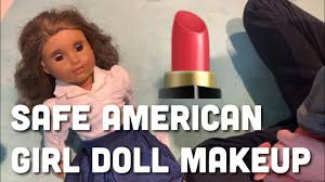 put makeup on your american doll
