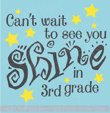 Cant Wait To See You Shine In Grade Personalized Wall Decal Sticker Classroom School Art Quote 2 Color