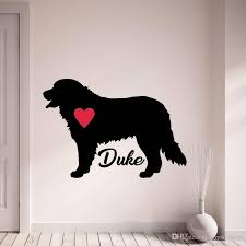 Bernese Mountain Custom Dogs Name Wall Stickers Personalize Pet Dog Wall Decals Pet Silhouette Home Decor Art Mural Home Wall Sticker Home Wall Stickers From Joystickers 13 39 Dhgate Com