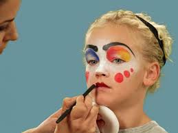 how to paint a clown face for