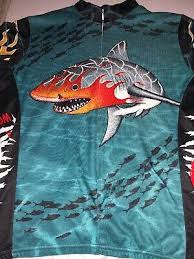 shark cycling jersey feeding frenzy