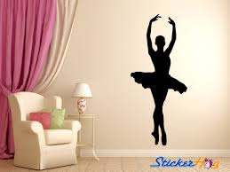 Ballerina Dancer Ballet Wall Decal Silhouette 3 Wall Decal Sticker Bedroom Home Studio Decor