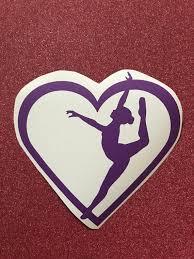 Dance Decal Dancer Decal Dance Heart Decal Vinyl Decal Etsy