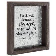 Psalm 91 11 Framed Metal Wall Decor Hobby Lobby 1469584
