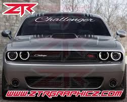 Custom Dodge Challenger Script Windshield Decal Ztr Graphicz