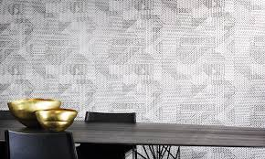 monochrome wallpaper with relief inks