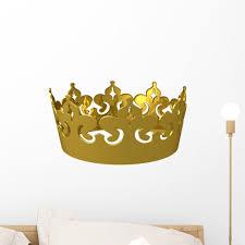 Kings Gold Crown Wall Decal By Wallmonkeys Peel And Stick Graphic 18 In W X 11 In H Wm351608 Walmart Com Walmart Com