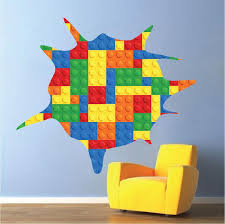 Lego Wall Decal Kids Play Room Wall Decal Large Kids Room Wall Sticker American Wall Designs