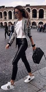 black leather pants outfit leather