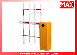 2mm Cold Rolled Plate Parking Barrier Gate With Clutch Device Three Fence Arm