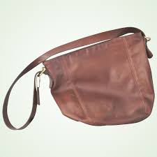 coach brown hobo shoulder bag purse
