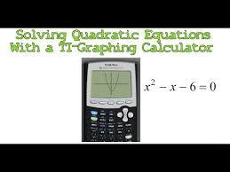 solving quadratic equations with a ti