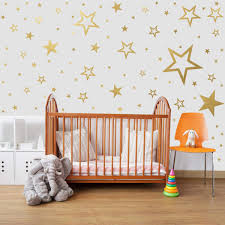 Amazon Com Mozamy Creative Star Wall Decals 146 Count Gold Star Wall Decal Bedroom Wall Decals Star Wall Stickers Removable Peel And Stick Wall Decals Vintage Gold Home Kitchen