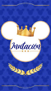 Tarjeta De Invitacion Animada De Principe Mickey En 2020