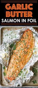 garlic er salmon in foil