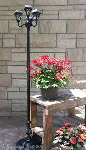 repurposed floor lamps make great patio