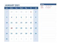2021 calendar templates