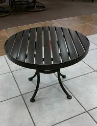 24 round slat end table patio connection