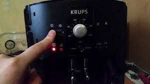 krups ea8000 problem clean blinking